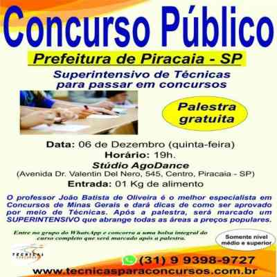 Grupo de Whatsapp Concurso Piracaia – SP 📚📝